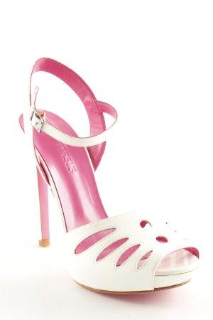 VERSUS Versace Peeptoe Pumps weiß-pink Street-Fashion-Look