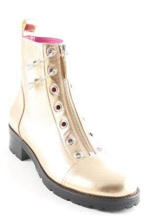 VERSUS Versace Reißverschluss-Stiefeletten goldfarben Casual-Look
