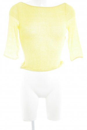 VERSUS Versace Strickshirt gelb Netz-Optik