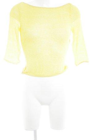 VERSUS Versace Knitted Jumper yellow mesh look