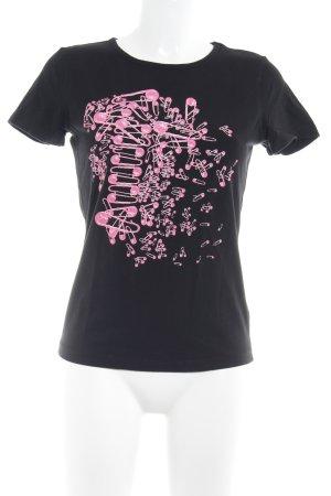 VERSUS Versace T-Shirt schwarz Motivdruck Casual-Look