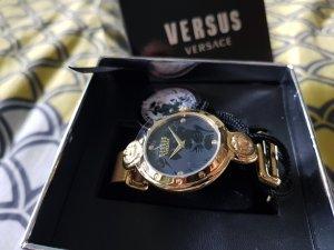VERSUS Versace Horloge met metalen riempje zwart-goud