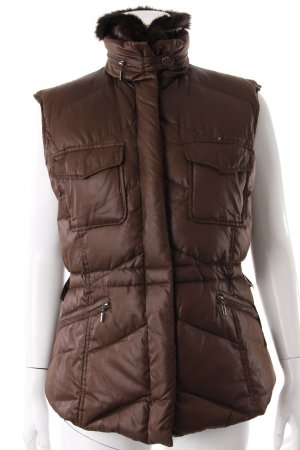 Vertini Quilted Gilet brown red