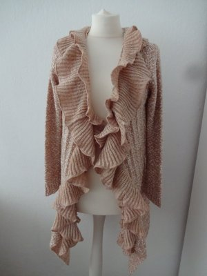 verträumte Strickjacke volants boucle apricot