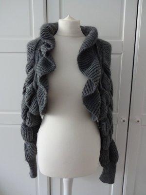 H&M Torera de punto gris tejido mezclado