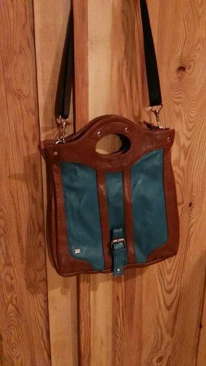 Kling Carry Bag cognac-coloured-petrol