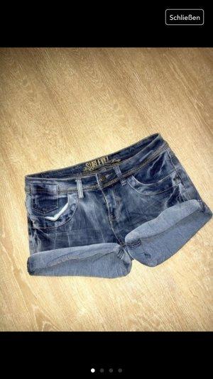 Verwaschene Jeans hotpants