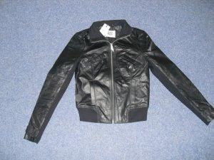 Very by Vero Moda 100% Leder Jacke Übergangsjacke Gr. XS 32/34 Neu Biker Blogger