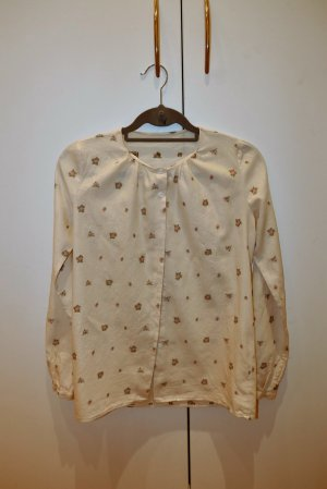 Very pretty vintage wool and cotton blouse.