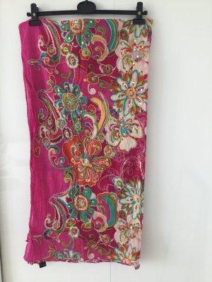 Scarf pink-magenta