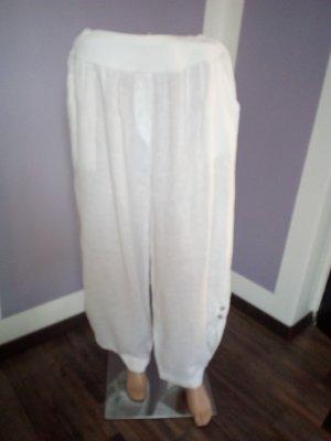 Vestino Harem Pants white linen