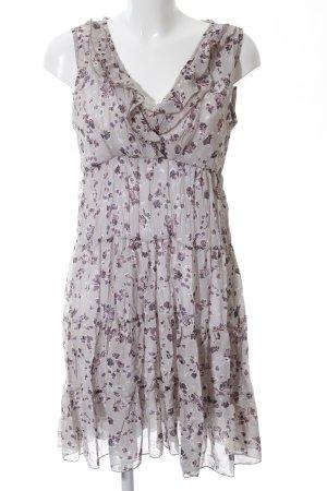 Vestino A-Linien Kleid hellgrau-pink Allover-Druck Casual-Look