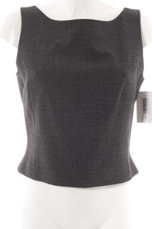 Vestino ärmellose Bluse dunkelgrau meliert Business-Look