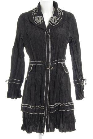 Vestino Blusenkleid schwarz-weiß Casual-Look