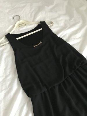 Vestino Kleid schwarz Mini Chiffon 38 mit Details