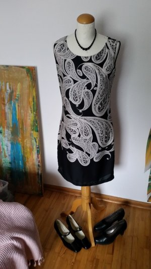 Vestino Kleid Schwarz Paisley gemustert Gr. 36