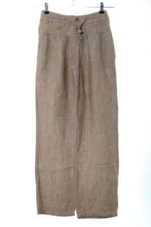 Vestino Pantalón de lino color bronce moteado look casual