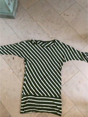 Vestino Vestido de tela de jersey blanco-verde oscuro