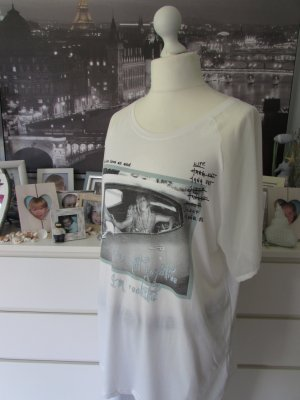 Vestino * % SALE Long Shirt * weiß-mint Fotoprint+Glitzer * 44/46