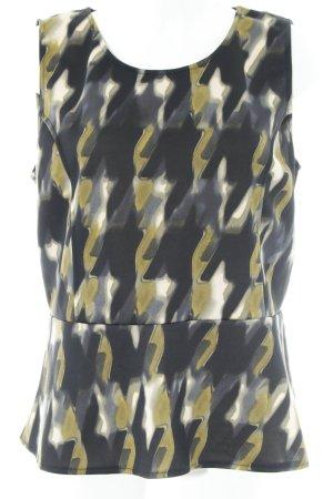Vestino Peplum top abstract patroon elegant