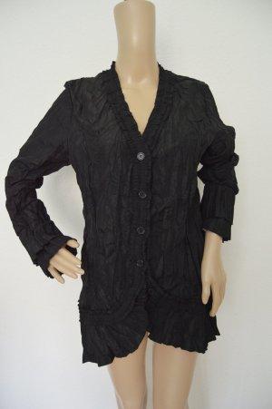 Vestino Schwarze Bluse knitterlook