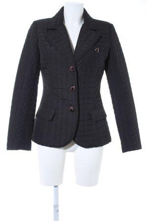 Vestino Veste matelassée noir motif de courtepointe style d'affaires