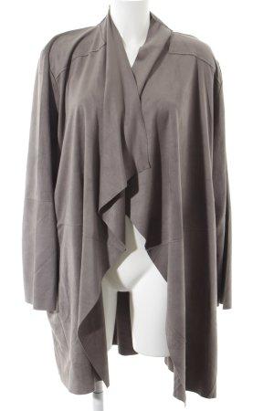 Via appia due Cardigan grau schlichter Stil