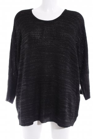 Via appia due Strickpullover schwarz-grau meliert Casual-Look