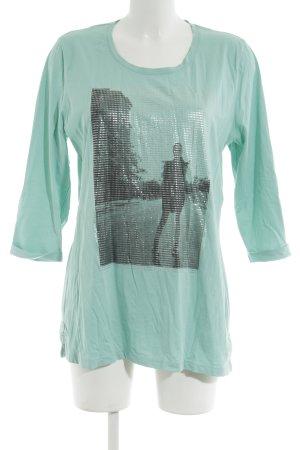 Via Appia Print-Shirt türkis Motivdruck Casual-Look