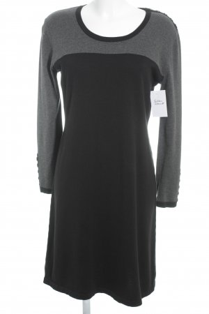 Via Appia Strickkleid schwarz-grau Colourblocking Casual-Look
