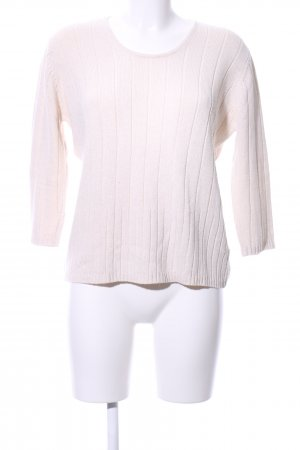 Via Appia Strickpullover weiß Zopfmuster Casual-Look