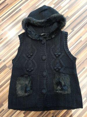 Via Appia Knitted Vest black