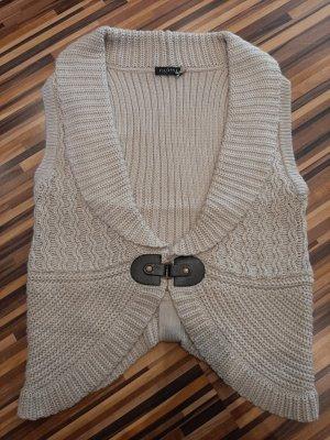 Via Appia Knitted Vest cream-oatmeal