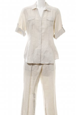 Via Appia Woven Twin Set natural white casual look