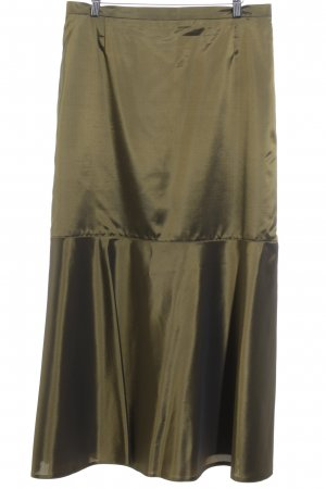 Via Di Ronnetta Maxi Skirt olive green party style