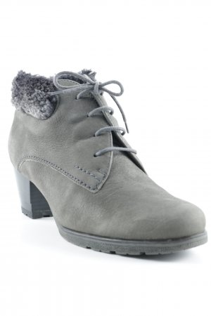 Via Milano Schnür-Stiefeletten grau schlichter Stil