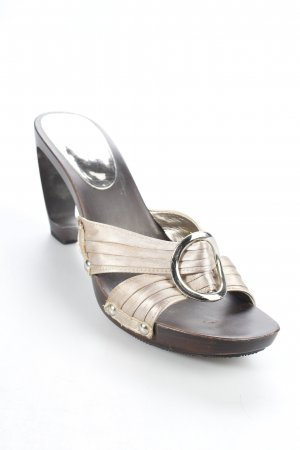 Via uno Platform High-Heeled Sandal grey brown romantic style