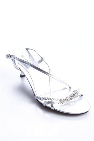 Via uno Riemchen-Sandaletten silberfarben Eleganz-Look