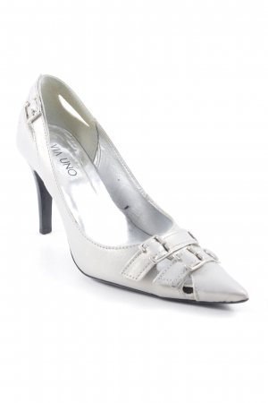 Via uno Spitz-Pumps silberfarben Elegant