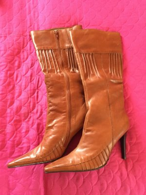 Via uno High Heel Boots cognac-coloured leather