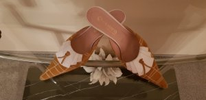 Heel Pantolettes sand brown-white
