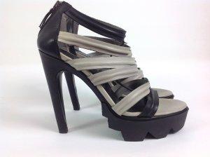 Vic Marie Schuhe grau schwarz Gr. 37