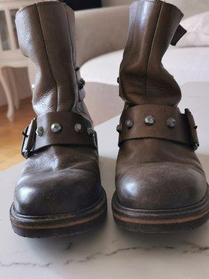 Vic Matie Stivaletto slip-on marrone-grigio
