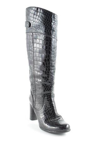 Vic Matie Absatz Stiefel schwarz Animalmuster extravaganter Stil