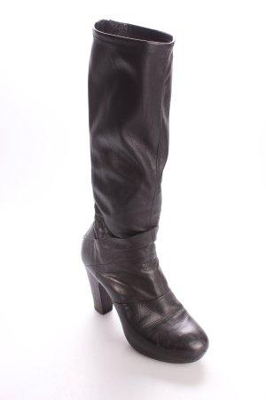 Vic Matie Botas con tacón negro estilo clásico