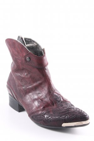 Vic Matie Ankle Boots braunrot Ornamentenmuster Country-Look