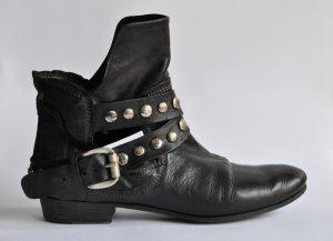 Vic Matie Biker Boots mit Nieten-Details Leder schwarz NP 329€