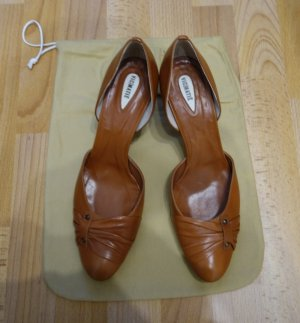 Vic Matie Cut Out Pumps braun Leder Gr. 39,5/40 *neu* Vintage Retro Business