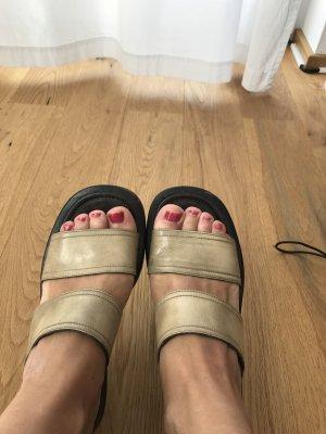 Vic Matie Italy Sandalen Sandaletten 38,5 braun Sand Riemchen