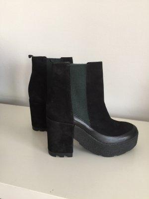 Vic Matié Leder Stiefelette schwarz Neu Größe 40